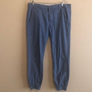 LEVIS Chambray  Jogger Pants Casual Flat Front